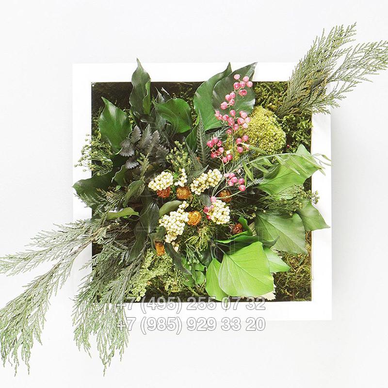 Картины из живых цветов купить